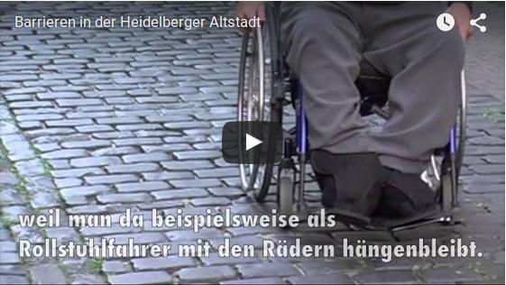 Barrieren in der Heidelberger Altstadt